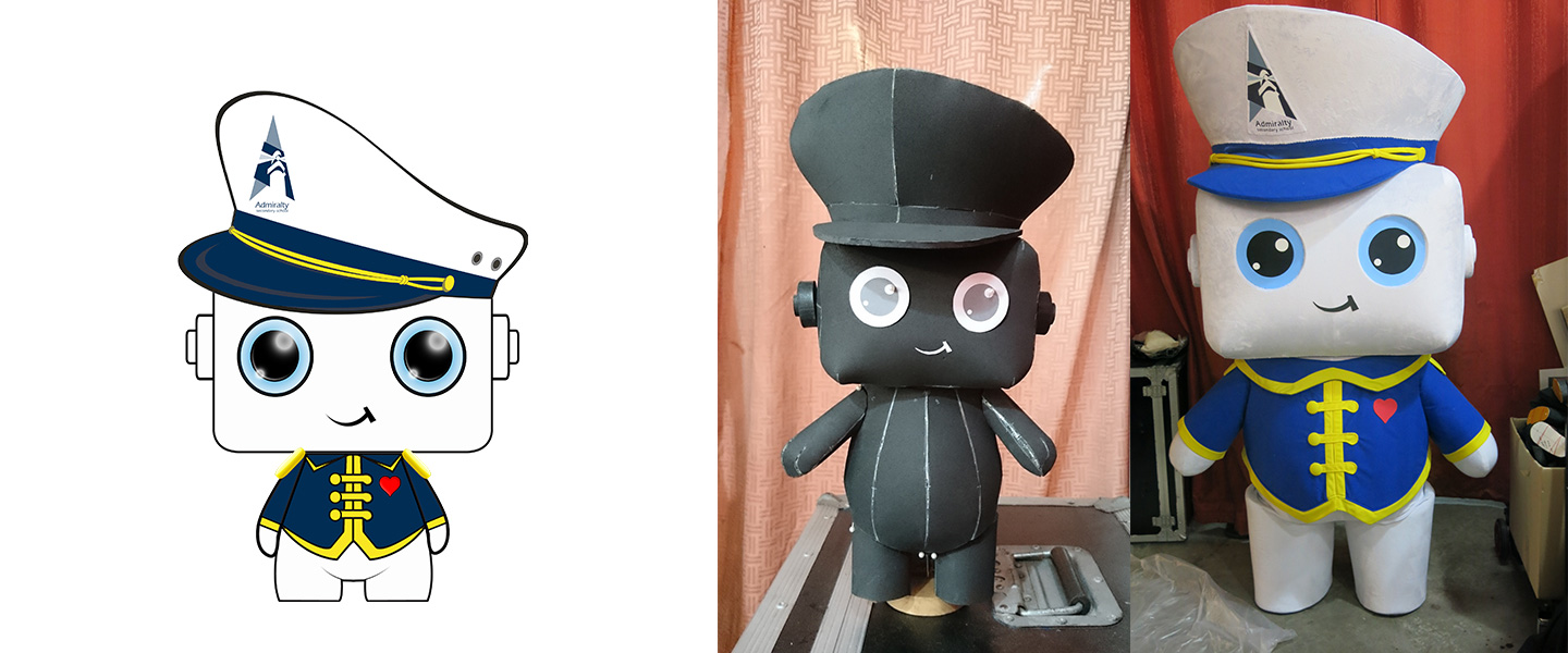 admiralty secondary school mascot design and fabrication process