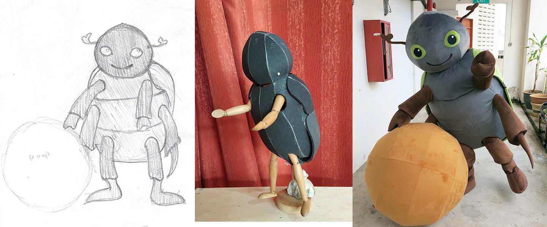 dung mascot design and fabrication process