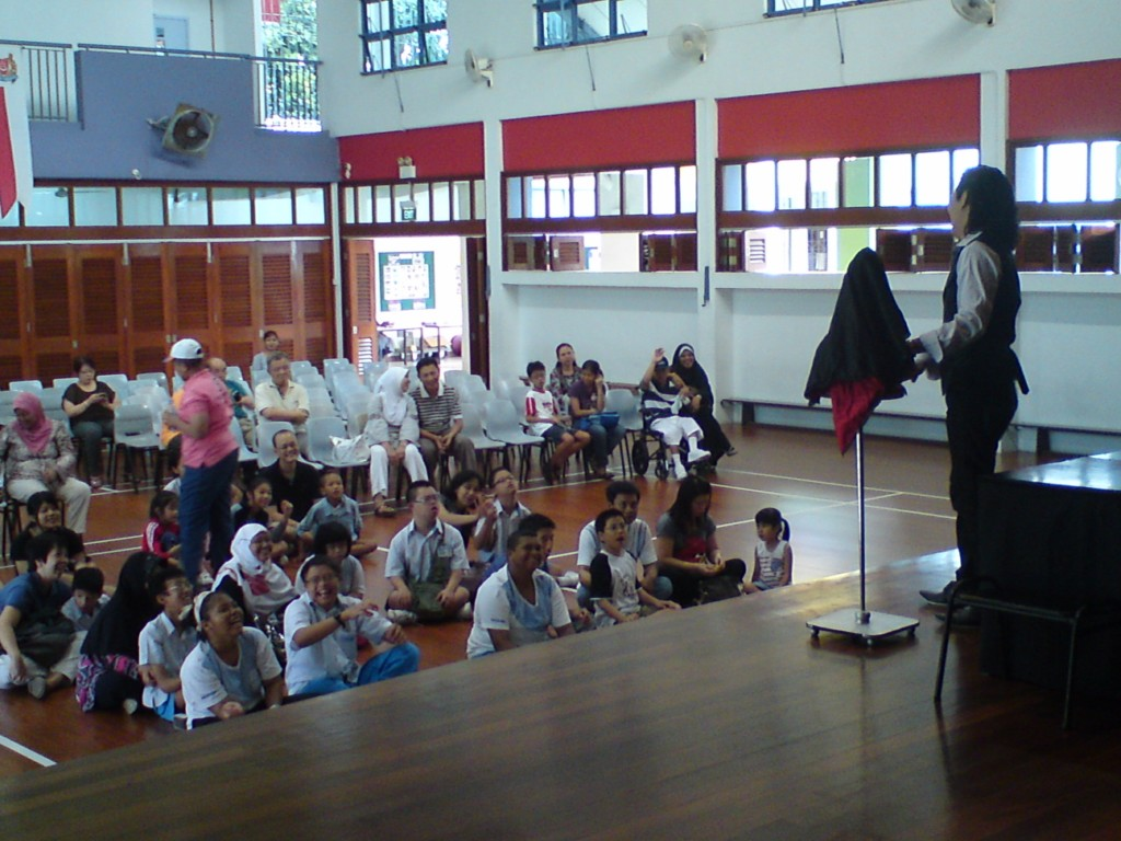 puppet show at towner gardens school